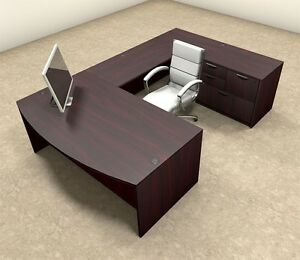 4pc U Shaped Modern Executive Office Desk ot sul u7