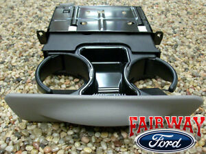 99 00 01 Super Duty F250 F350 F450 F550 Oem Ford Dash Cup Holder Graphite Gray