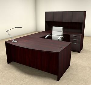 5pc U Shaped Modern Executive Office Desk ot sul u15