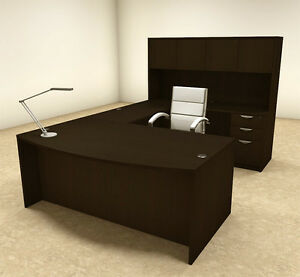 5pc U Shaped Modern Executive Office Desk ot sul u16