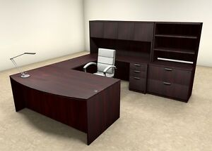 7pc U Shaped Modern Executive Office Desk ot sul u19