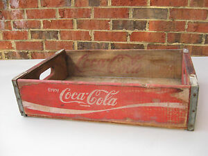 VINTAGE 1977 COKE COCA COLA WOODEN CRATE TEMPLE CHATTANOOGA
