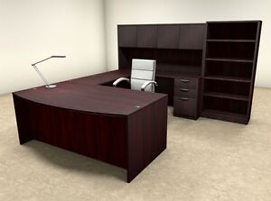 6pc U Shaped Modern Executive Office Desk ot sul u31