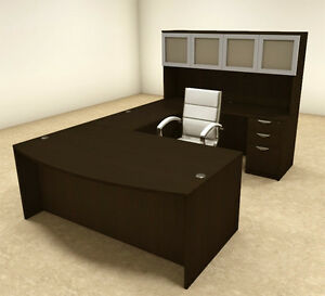 5pc U Shaped Modern Executive Office Desk ot sul u40