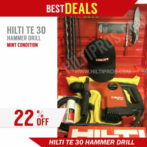 Hilti Te 30 Rotary Hammer Preowned Free Bits A Lot Of Extra Fast Ship