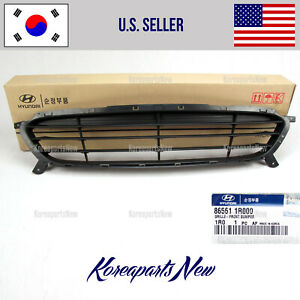 Front Bumper Grille Lower 865611r000 Genuine For Hyundai Accent 2012 2014