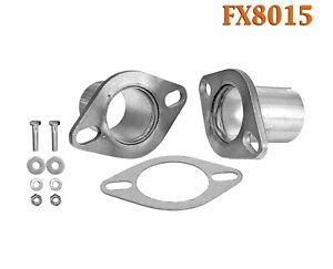 Fx8015 2 Od Universal Quickfix Exhaust Oval Flange Repair Pipe Kit Gasket
