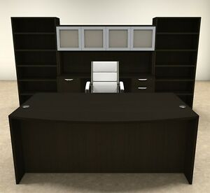 8pc Fan Front Modern Executive Office Desk Set ot sul d20