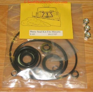 Meyer E 60 Plow Pump Basic Seal Kit 3 New Nuts