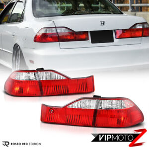 oe Style For 98 99 00 Honda Accord 4dr red Clear tail Lights Rear Brake Rh Lh
