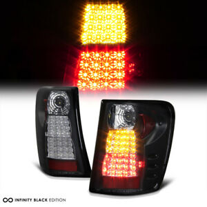 99 04 Jeep Grand Cherokee Laredo limited Sport Pair Black Led Tail Light Lamp