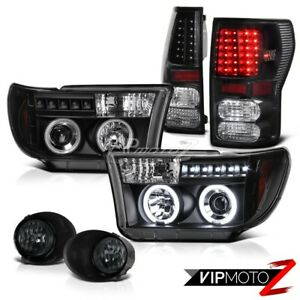 Ccfl Halo Projector Headlight led Tail Light fog Lamp Toyota Tundra 07 13 Sr5