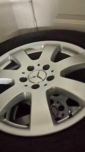 17 Inch Alloy Mercedes Benz Rims Michelin Tires X4