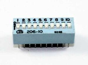10 Pin Slide dip Switch Spst Lot Of 3 Ds10a