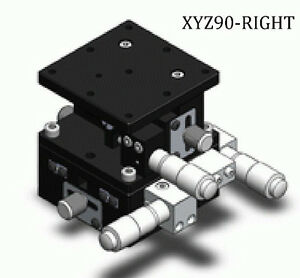 3 Axis Xyz Precision Linear Stage Cross Roller Bearing 90mm X 90mm Right u1 6r