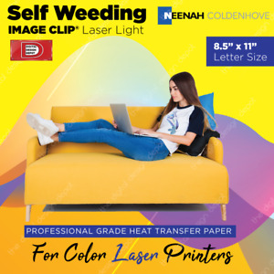 Neenah Image Clip Laser Light Heat Transfer Paper For Laser 100 Sheets 8 5 X 11