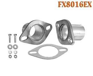Fx8016ex 2 1 4 id Universal Quickfix Exhaust Oval Flange Repair Pipe Kit Gasket