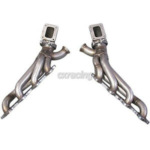 Cxracing Twin Turbo Manifold Header Elbow Adapter For 86 92 Supra Mk3 Ls1 Lsx
