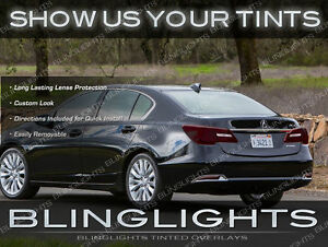 2014 2015 Acura Rlx Tinted Tail Lights Overlays Smoked Lamps Film Protection Kit