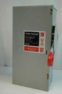 Eaton Cutler hammer Heavy Duty Safety Switch 30amp 600volts A c 3 Pole Dh361ugk
