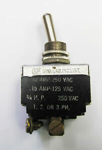 Carling Hk25e 73 on Mom Off 3pst 15a 125vac Screw Term 1 2 Or 3 Phase Toggle
