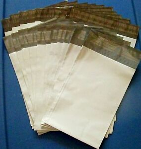 50 25 6 X 9 25 7 5 X 10 5 White Poly Mailers Shipping mailing Bags