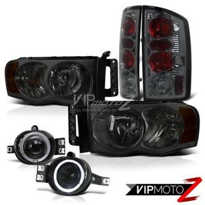 2002 2005 Dodge Ram 1500 Smoke Headlight Smoke Tail Light Halo Fog Light