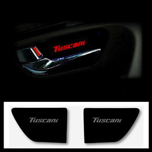 Led Door Plate Catch Tuscani Logo Red 2ea For Hyundai 2003 2008 Tiburon