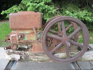 A 1922 John Deere Waterloo Boy 3hp Model H Hit Miss Old Gas E Engine D B