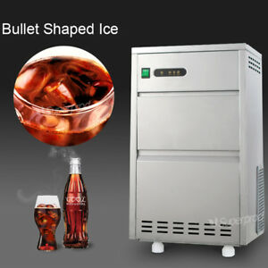 Countertop Commercial Portable Bullet Ice Maker Machine 60lbs day Air Cool 110v