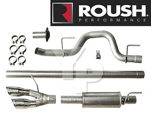 Roush 421711 Cat Back Side Exit Exhaust System For 2010 2014 Ford F 150 Raptor