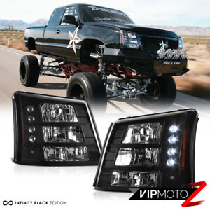 2003 2006 Chevy Silverado Conversion Pkg 03 05 Avalanche Led Headlights Black