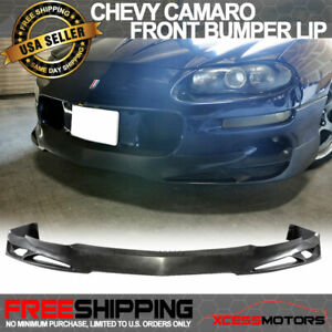 Fits 98 02 Chevy Camaro Poly Front Bumper Lip Spoiler Pu Urethane V Style