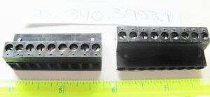 Wieland 25 340 3953 1 Pcb Female Connector 5 08mm 9 Position Pluggable Black