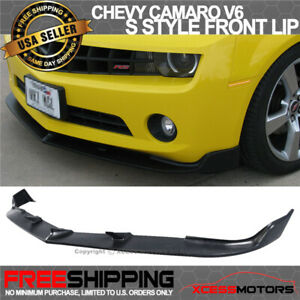Fits 10 13 Chevy Camaro V6 S Style Urethane Front Bumper Lip Spoiler