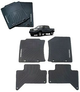 2012 2014 Tacoma All Weather Floor Mats Double Cab Genuine Toyota Pt908 35122 20