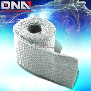 5ft 60 l 2 w Exhaust Header Turbo Manifold Pipe White Heat Shield Wrap Tape