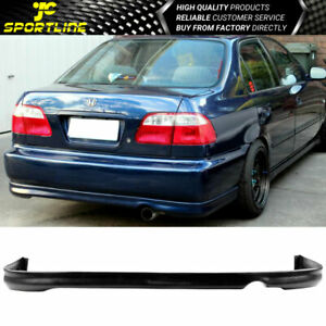 Fits 96 98 Honda Civic Black Pu Rear Bumper Lip
