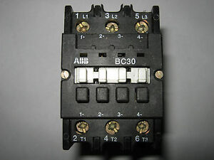 Abb Contactor Bc30c ex 24v Dc Coil Used