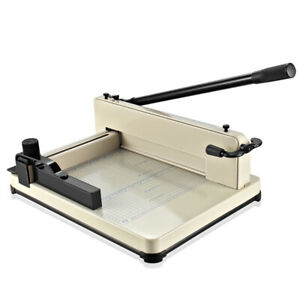 12 Professional Heavy Duty Industrial Guillotine Paper Cutter Trimmer Machine