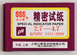 1 Pack 80 Strips Of Ph 2 7 4 7 Special Indicator Paper Test Lab Water Soil