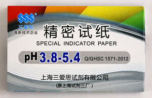 1 Pack 80 Strips Of Ph 3 8 5 4 Special Indicator Paper Test Lab Water Soil