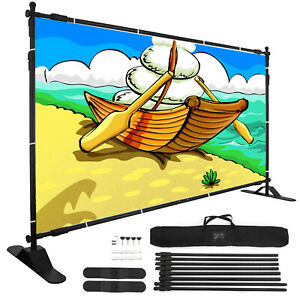 Banner Stand 10 X 8 Adjustable Support Commercial Telescopic Show Display