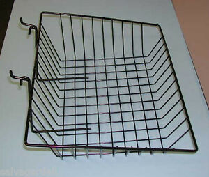 Gridwall Slatwall Multi purpose Slant Basket Display Fixture Black Lot Of 6 New
