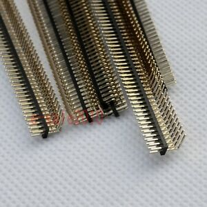 10pcs Rohs 2x50 1 27mm Pin Header Double Row Right Angle For Dip Pcb Board G26