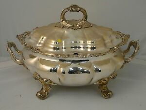 Soup Tureen Silver Plated Antique Victorian 1830 Great Condition Large Size