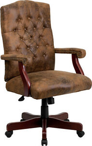 Flash Furniture Bomber Brown Classic Executive Swivel Office Chair