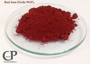 Ferric Red Iron Oxide High Purity Cosmetic Analytical Grade 99 8 1 Lb