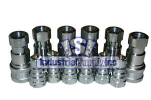 6 Sets Of 1 4 Iso 7241 1 B Hydraulic Quick Disconnect Couplers