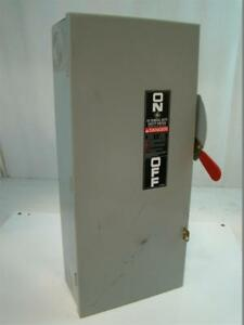 Ge General Duty Safety Switch 100amp 240v Ac 30hp Model 8 Tg4323